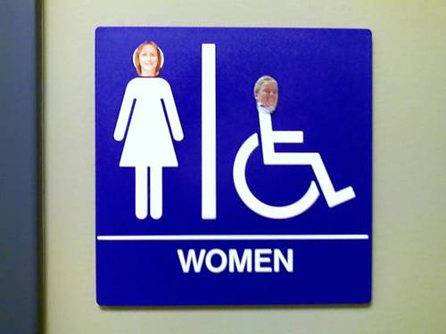 Bathroom Sign Heads