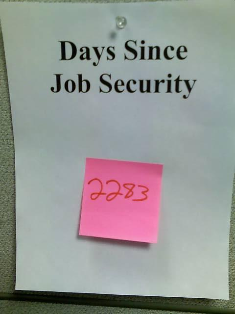 Days Since Job Security