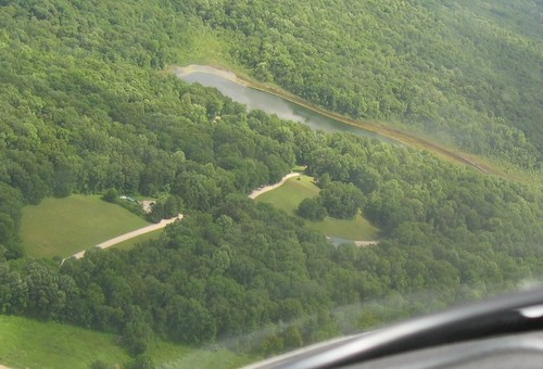 Camp Johnsonburg from the air