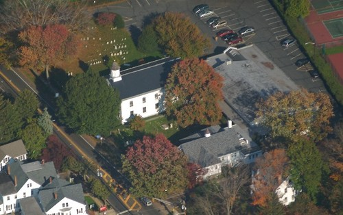 Presbyterian Church of Lawrenceville from the air