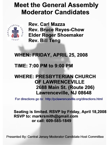 Lawrenceville Moderator Meet and Greet Flyer